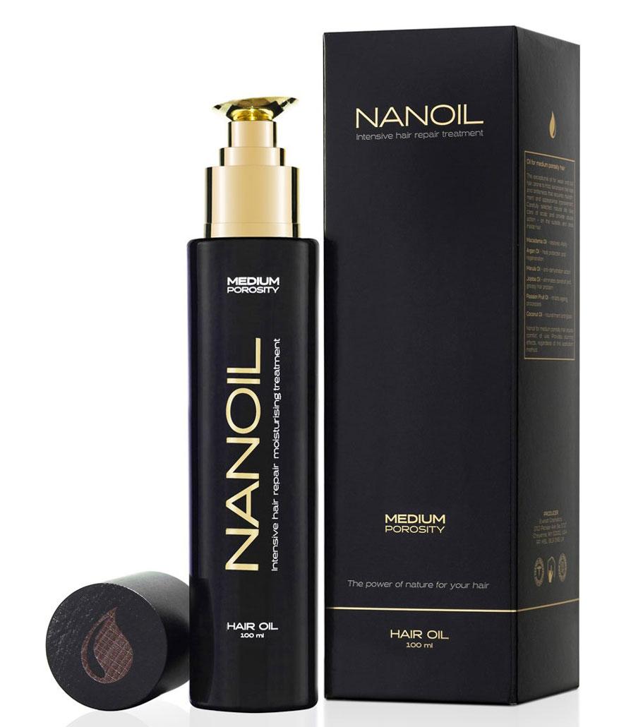 gesunde Haare mit dem Öl Nanoil